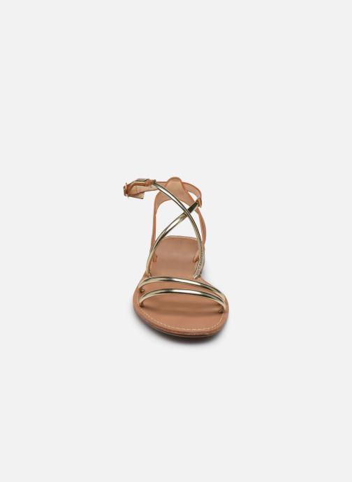 Sandali e scarpe aperte LPB -LES PETITES BOMBES EDEN Oro e bronzo modello indossato