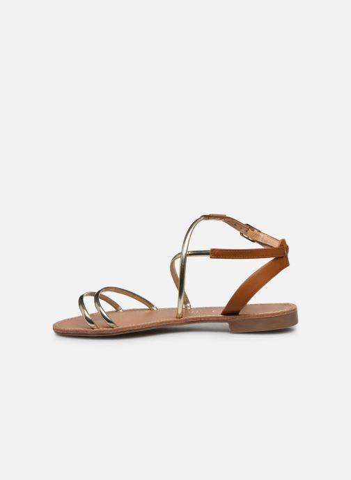 Sandales et nu-pieds LPB -LES PETITES BOMBES EDEN Or et bronze vue face
