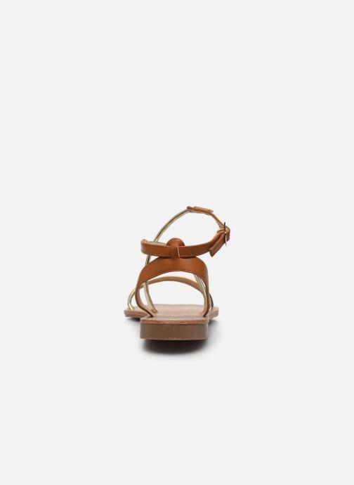 Sandales et nu-pieds LPB -LES PETITES BOMBES EDEN Or et bronze vue droite