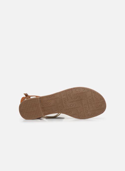 Sandales et nu-pieds LPB -LES PETITES BOMBES EDEN Or et bronze vue haut