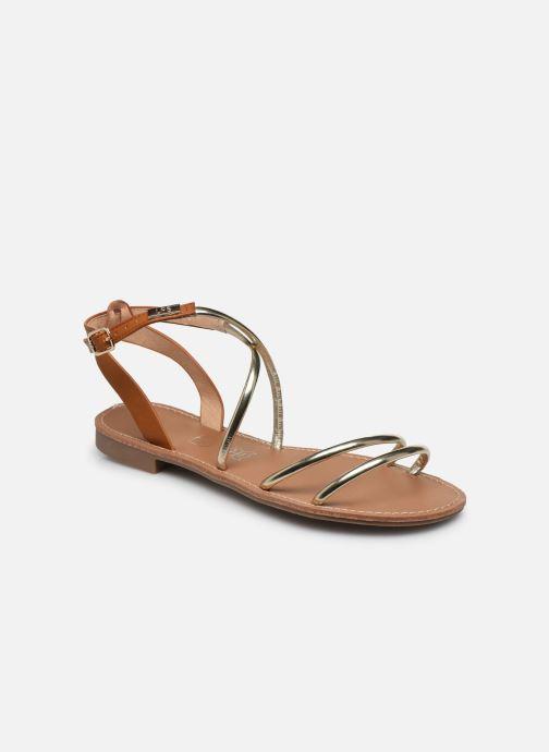 Sandales et nu-pieds LPB -LES PETITES BOMBES EDEN Or et bronze vue détail/paire