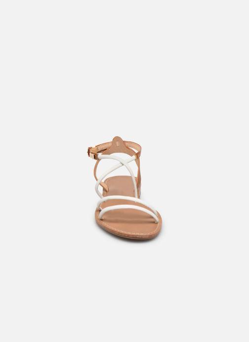 Sandales et nu-pieds LPB -LES PETITES BOMBES EDEN Blanc vue portées chaussures
