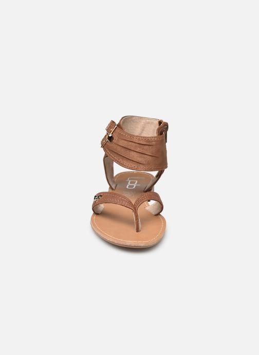 Sandales et nu-pieds LPB -LES PETITES BOMBES VALENTINE Marron vue portées chaussures