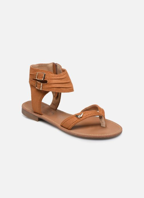 Sandales et nu-pieds LPB -LES PETITES BOMBES VALENTINE Marron vue détail/paire