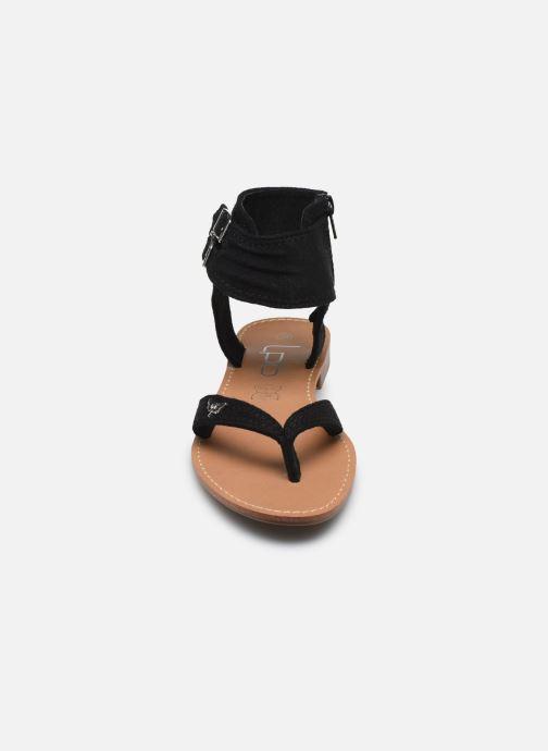 Sandales et nu-pieds LPB -LES PETITES BOMBES VALENTINE Noir vue portées chaussures
