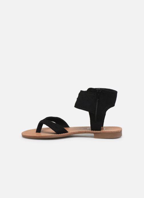 Sandales et nu-pieds LPB -LES PETITES BOMBES VALENTINE Noir vue face