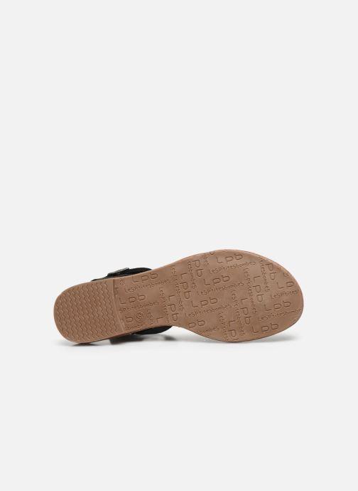 Sandales et nu-pieds LPB -LES PETITES BOMBES VALENTINE Noir vue haut