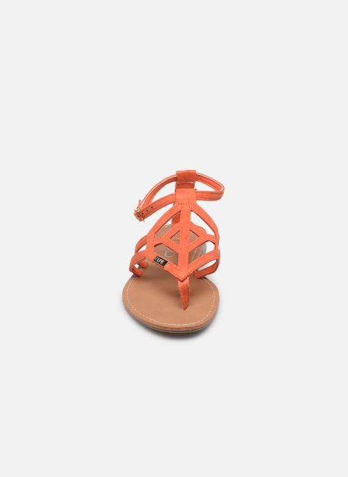Sandalen LPB -LES PETITES BOMBES VANESSA orange schuhe getragen