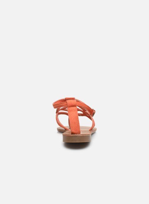 Sandales et nu-pieds LPB -LES PETITES BOMBES VANESSA Orange vue droite