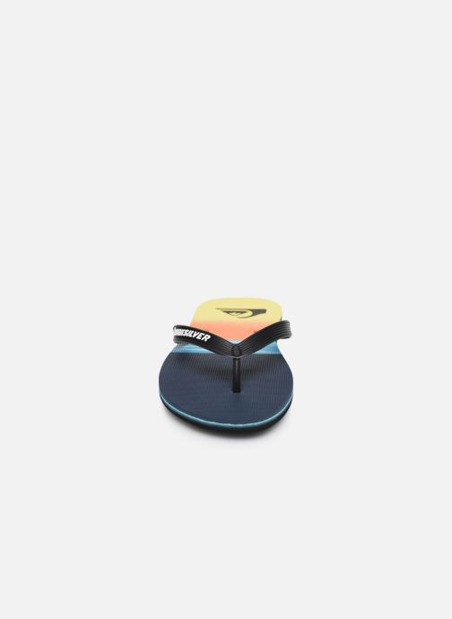 Tongs Quiksilver Molokai Hold Down Bleu vue portées chaussures