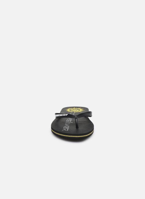 Tongs Quiksilver Molokai Rave Noir vue portées chaussures