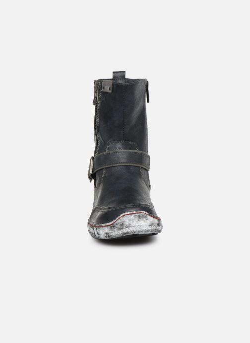 Bottes Mustang shoes 1110-611 Bleu vue portées chaussures