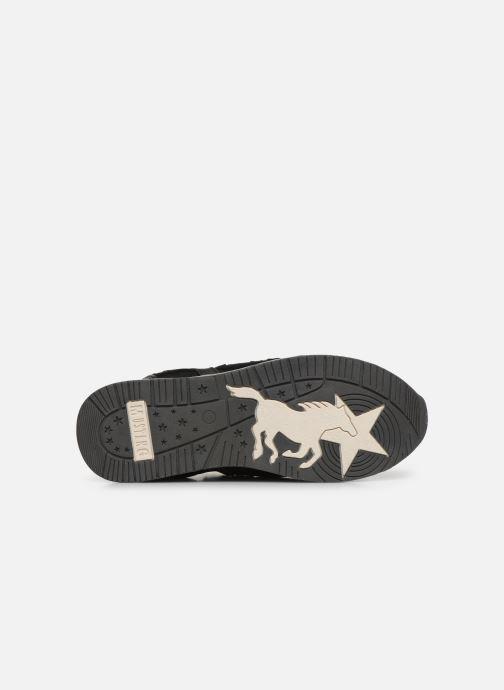 Baskets Mustang shoes 1289402 Noir vue haut