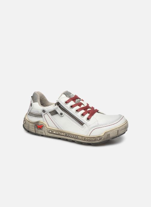 Trainers Mustang shoes 1290301 White detailed view/ Pair view