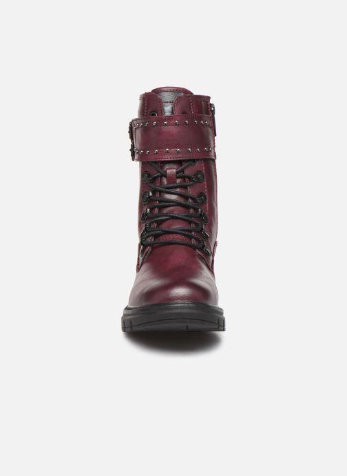 Bottines et boots Mustang shoes 1333501 Bordeaux vue portées chaussures