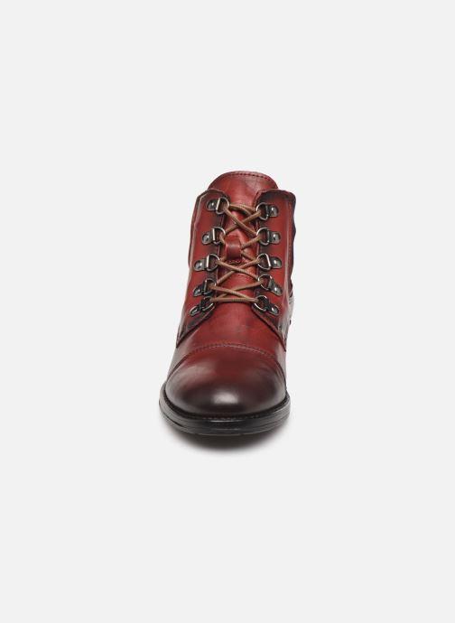 Bottines et boots Mustang shoes Portia1 Bordeaux vue portées chaussures
