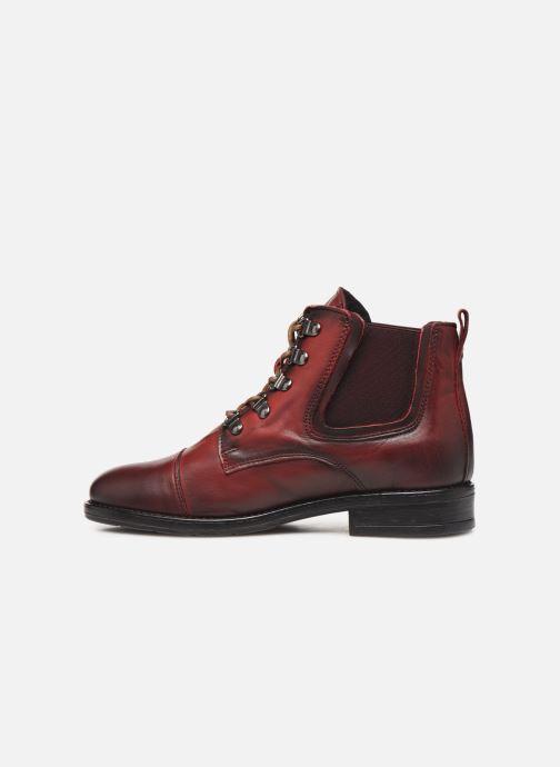 Bottines et boots Mustang shoes Portia1 Bordeaux vue face