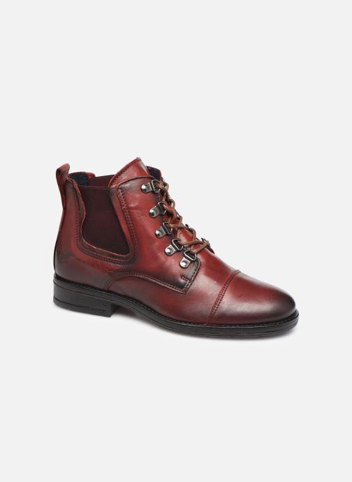 Bottines et boots Mustang shoes Portia1 Bordeaux vue détail/paire