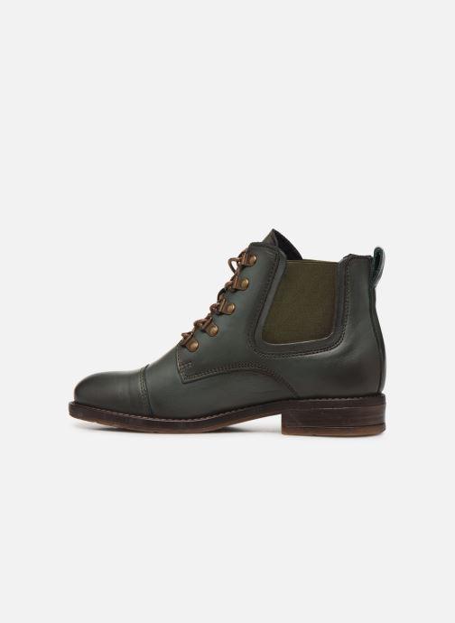 Bottines et boots Mustang shoes Portia1 Vert vue face