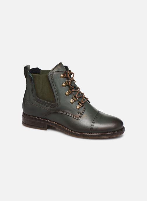 Bottines et boots Mustang shoes Portia1 Vert vue détail/paire