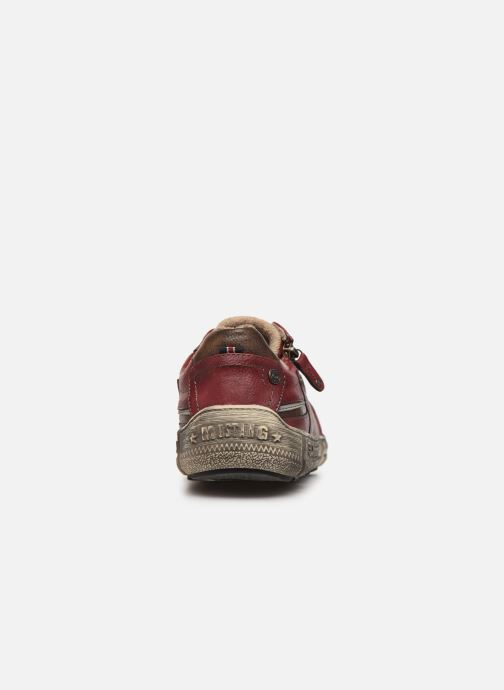 Trainers Mustang shoes 4128301 Burgundy view from the right