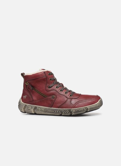Trainers Mustang shoes 4128601 Burgundy back view