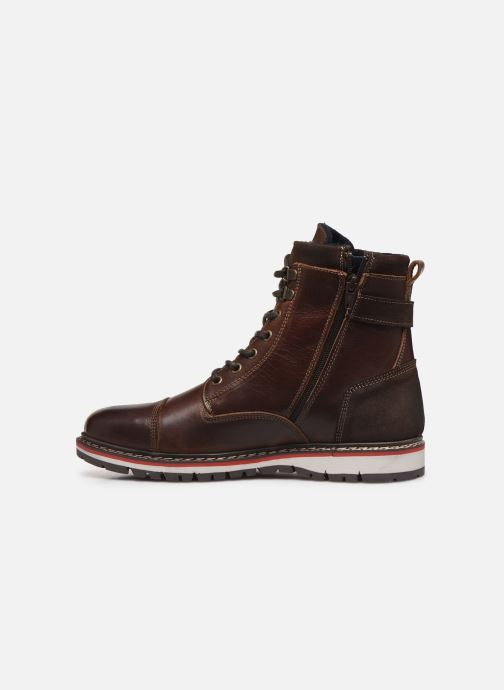 Ankle boots Mustang shoes Kil1 Brown front view