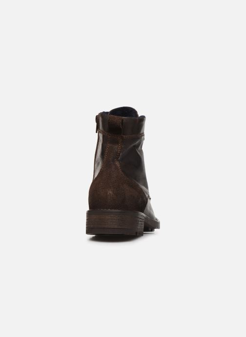 Ankle boots Mustang shoes Jil1 Brown view from the right