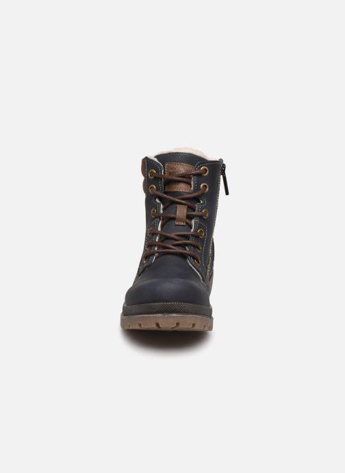 Bottes Mustang shoes 5037608 Bleu vue portées chaussures