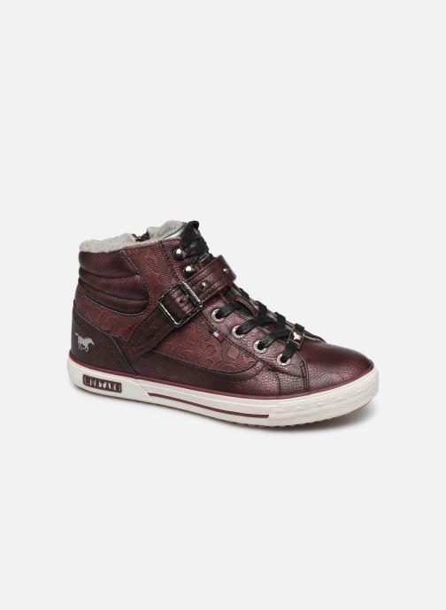 Baskets Mustang shoes Kirsten1 Bordeaux vue détail/paire
