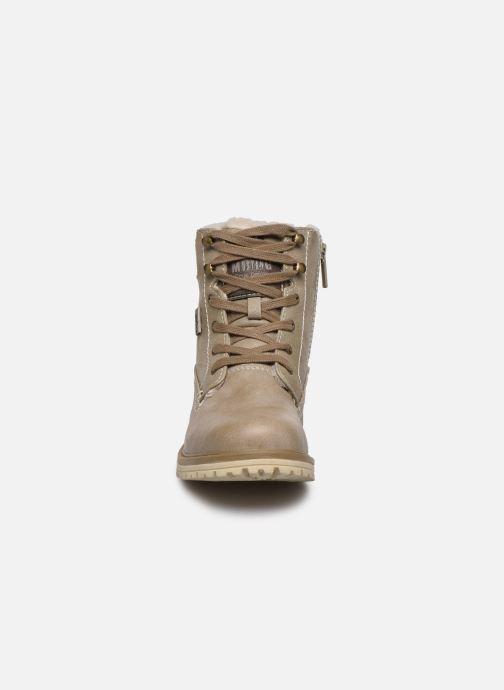 Bottines et boots Mustang shoes Lutgard1 Beige vue portées chaussures