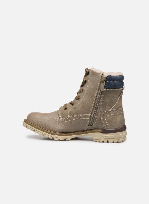 Bottines et boots Mustang shoes Lutgard1 Beige vue face