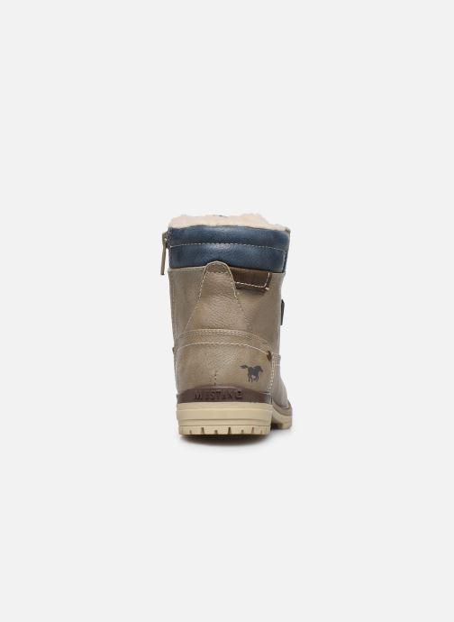 Bottines et boots Mustang shoes Lutgard1 Beige vue droite