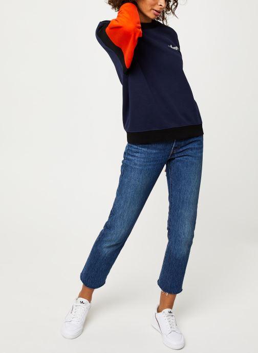 Vêtements Wrangler HIGH RIB RETRO SWEAT Bleu vue bas / vue portée sac