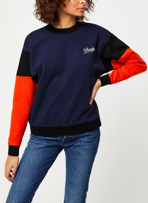 Vêtements Wrangler HIGH RIB RETRO SWEAT Bleu vue détail/paire