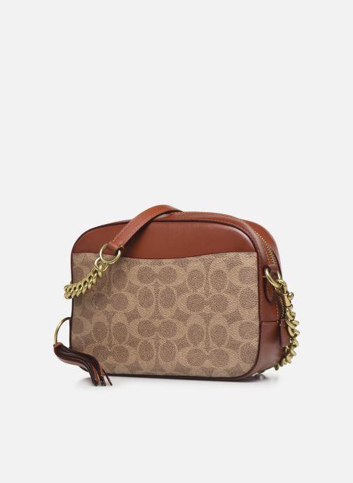 Borse Coach Camera Bag Marrone modello indossato