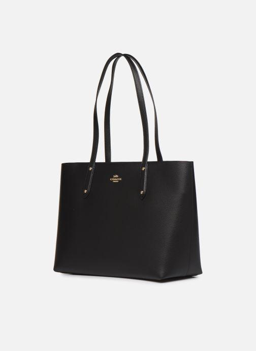Bolsos de mano Coach Central Tote With Zip Negro vista del modelo
