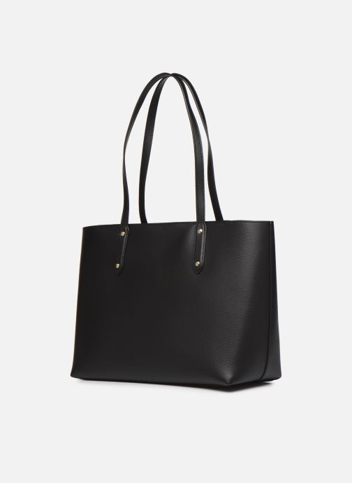 Sacs à main Coach Central Tote With Zip Noir vue droite