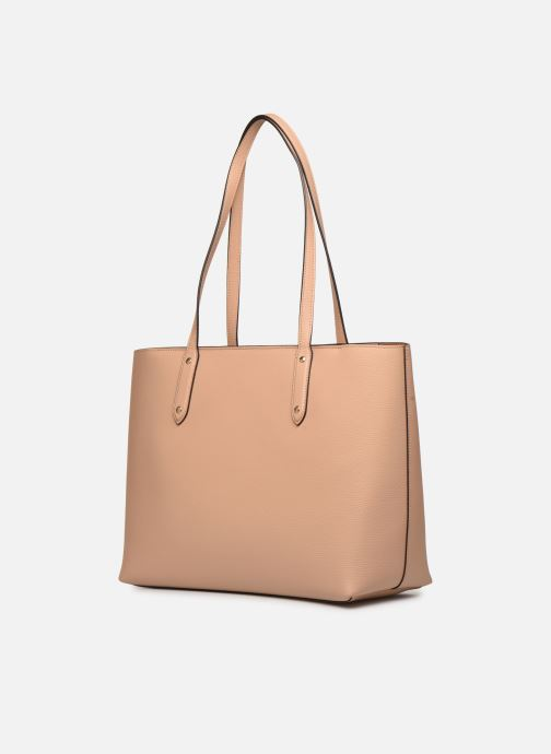 Sacs à main Coach Central Tote With Zip Beige vue droite