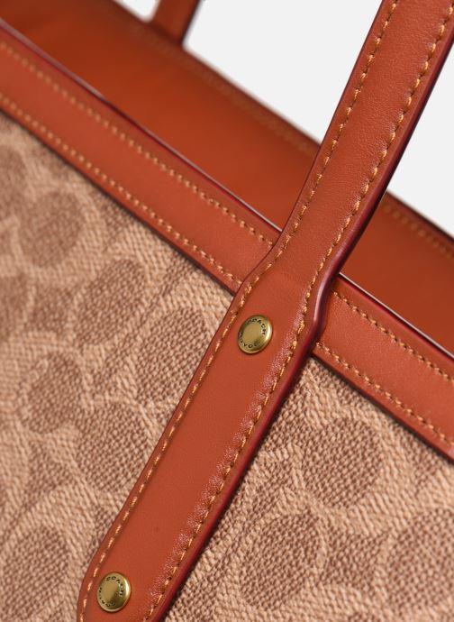 Handtaschen Coach Central Tote With Zip braun ansicht von links