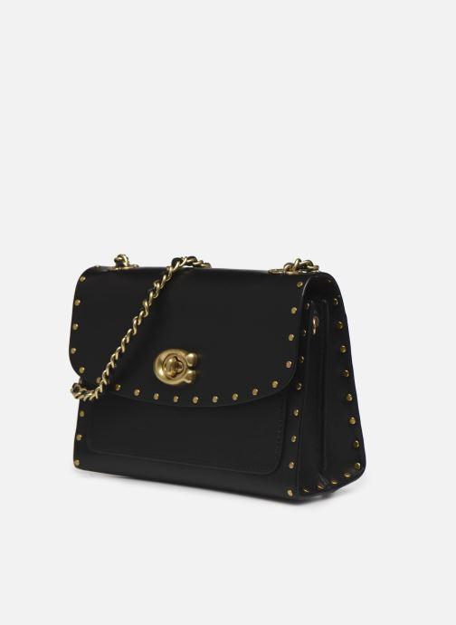 Bolsos de mano Coach Parker 18 Shoulder Bag Negro vista del modelo