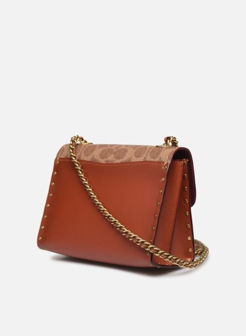 Bolsos de mano Coach Parker 18 Shoulder Bag Marrón vista lateral derecha