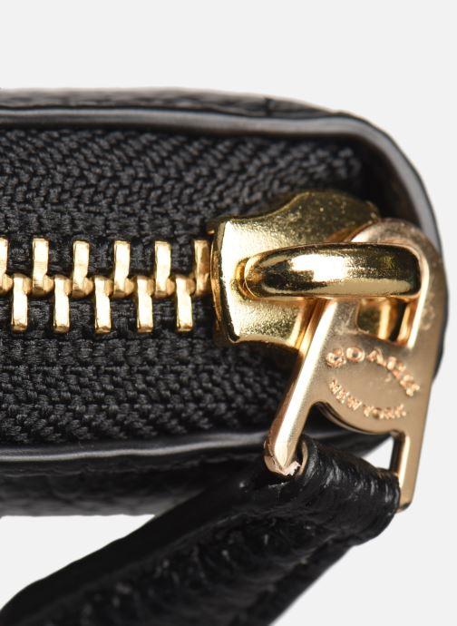 Petite Maroquinerie Coach Accordion Zip Noir vue gauche