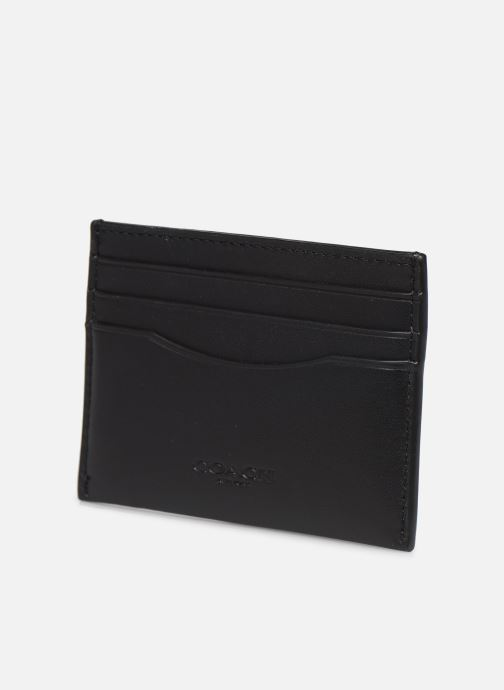 Portemonnaies & Clutches Coach Flat Card Case schwarz schuhe getragen
