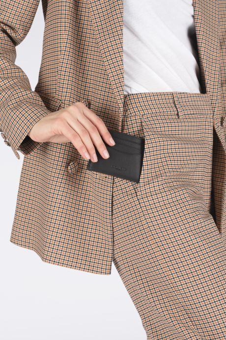 Portemonnaies & Clutches Coach Flat Card Case schwarz ansicht von unten / tasche getragen