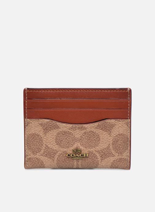 Portemonnaies & Clutches Coach Flat Card Case braun detaillierte ansicht/modell