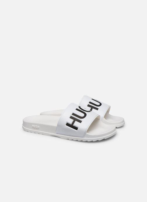 Sandales et nu-pieds Hugo Match_Slid Blanc vue 3/4