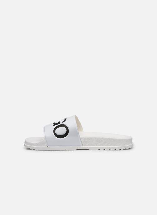 Sandales et nu-pieds Hugo Match_Slid Blanc vue face