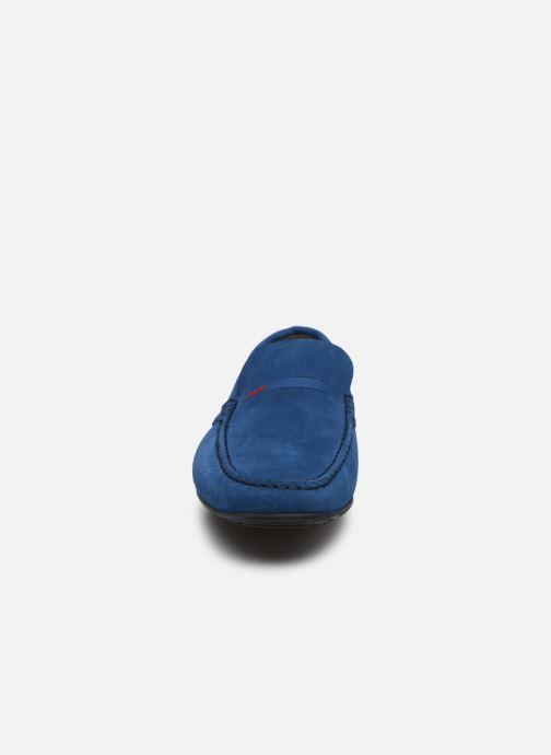 Mocassins Hugo Dandy_Mocc Bleu vue portées chaussures