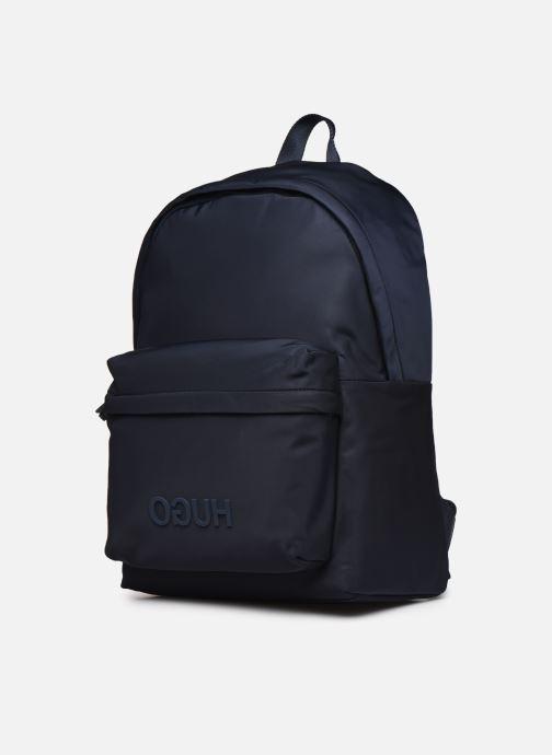 Sacs à dos Hugo Record_Backpack Bleu vue portées chaussures